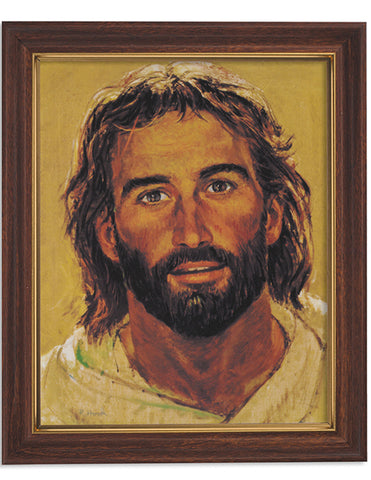 Head Of Christ Woodtone Finish Frame