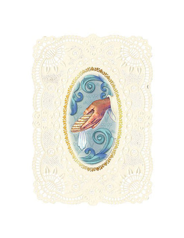 Wedding Holy Card Deluxe Embossed | 12 Pcs. Per Package