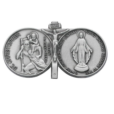St. Christopher and Miraculous Visor Clip