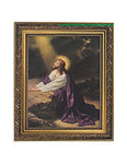Jesus in Garden of Gethsemane Ornate Gold Frame