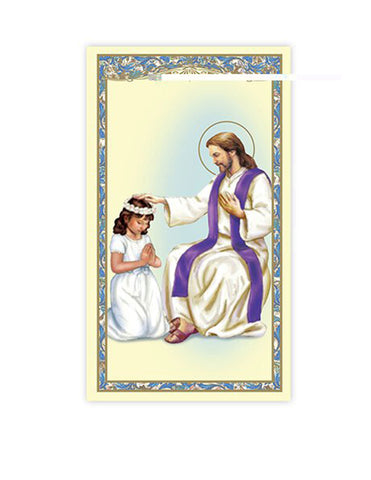 Laminated Holy Card Reconciliation - Girl - 25 Pcs. Per Package