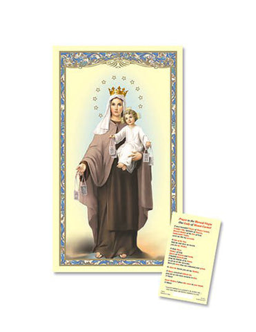 Our Lady of Mt. Carmel  25pcs Laminated Holy Card with a Prayer Guide a perfect token for everyone family and friends on any occasion or celebration
