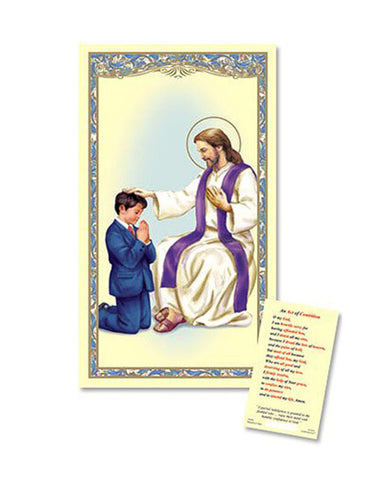 Laminated Holy Card Reconciliation - Boy - 25 Pcs. Per Package