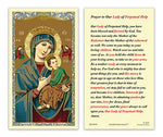 Laminated Holy Card Our Lady Of Perpetual Hope - 25 Pcs. Per Package