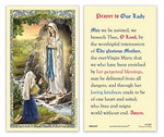 Laminated Holy Card Our Lady Of Lourdes - 25 Pcs. Per Package