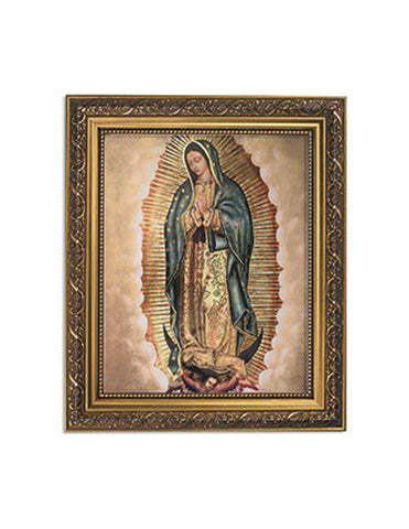 Our Lady of Guadalupe Ornate Gold Finish Frame