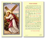 Laminated Holy Card Christ Carrying The Cross - 25 Pcs. Per Package