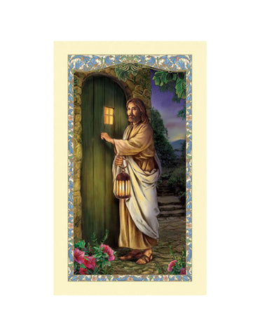 Laminated Holy Card Christ Knocking - 25 Pcs. Per Package