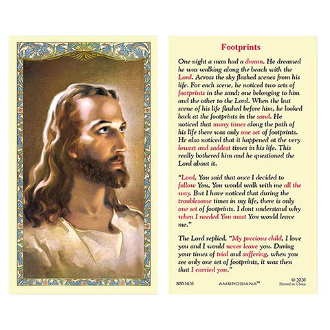 Laminated Holy Card Head Of Christ - 25 Pcs. Per Package