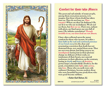 Laminated Holy Card Christ The Good Shepherd - 25 Pcs. Per Package