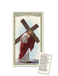 Laminated Holy Card Christ with Cross - 25 Pcs. Per Package