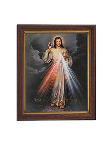 The Divine Mercy Woodtone Finish Frame