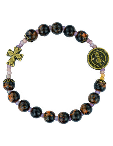 St. Benedict Painted Stretch Bracelet