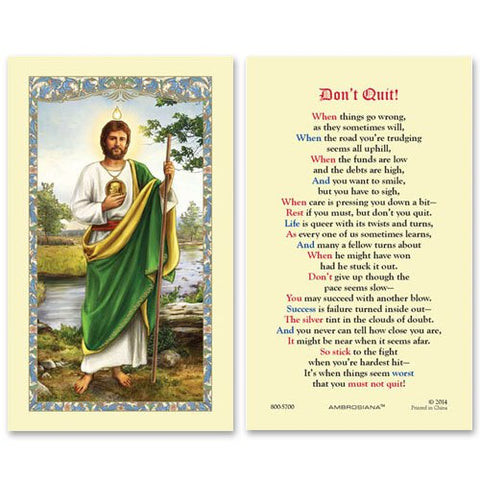 Laminated Holy Card St. Jude - 25 Pcs. Per Package