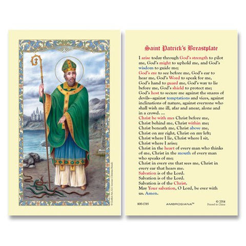 Laminated Holy Card St. Patrick - 25 Pcs. Per Package