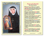 Laminated Holy Card St. Maria Faustina - 25 Pcs. Per Package