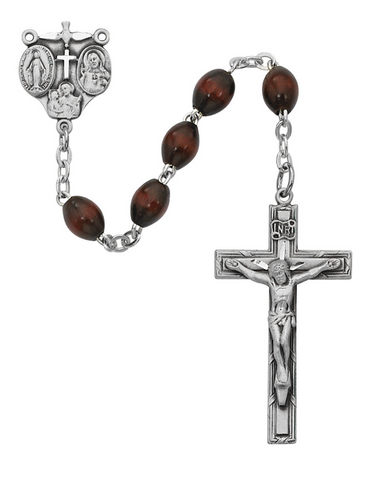 4x6mm Brown Bead Rosary