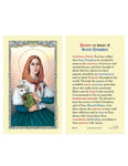 Laminated Holy Card St. Dymphna - 25 Pcs. Per Package