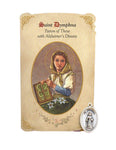 Holy Card St. Dymphna with Alzheimer's Healing Medal Set - 6 Pcs. Per Package