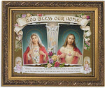 "God Bless Our Home Frame Artwork in 13"" Ornate Gold Finish Frame"