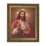 "Sacred Heart Of Jesus in 13"" Gold Ornate Finish Frame"