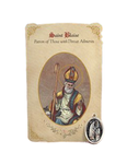 Holy Card St. Blaise with Throat Healing Medal Set - 6 Pcs. Per Package