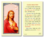 Laminated Holy Card Sacred Heart - Solem Resolution - 25 Pcs. Per Package