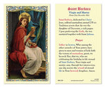 Laminated Holy Card St. Barbara - 25 Pcs. Per Package