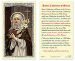 Laminated Holy Card St. Catherine of Siena - 25 Pcs. Per Package