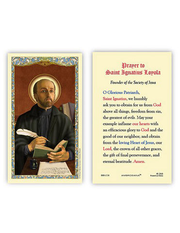 Laminated Holy Card St. Ignatius of Loyola - 25 Pcs. Per Package