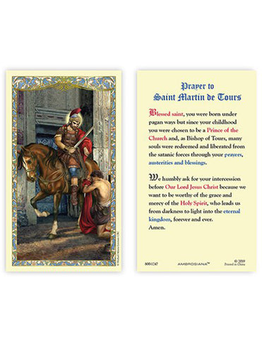 Laminated Holy Card St. Martin of Tours - 25 Pcs. Per Package