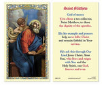 Laminated Holy Card St. Matthew - 25 Pcs. Per Package