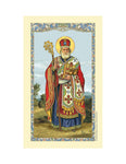 Laminated Holy Card St. Nicholas - 25 Pcs. Per Package