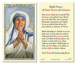 Laminated Holy Card St. Teresa of Calcutta - 25 Pcs. Per Package