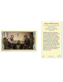Laminated Holy Card Thanksgiving 25 Pcs. Catholic Prayer on Feast