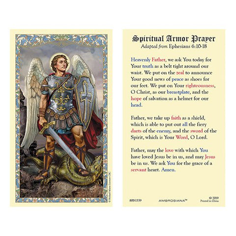 Laminated Holy Card St. Michael - 25 Pcs. Per Package