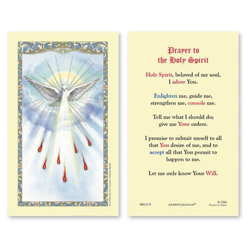 Laminated Holy Card Holy Spirit - 25 Pcs. Per Package