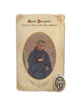 Holy Card St. Peregrine with Skin Healing Medal Set - 6 Pcs. Per Package