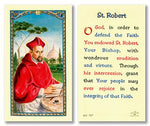 Laminated Holy Card St. Robert - 25 Pcs. Per Package