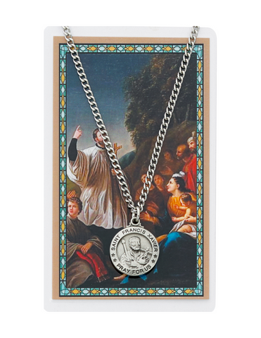 "St. Francis Medal made from Pewter with a 24"" silvertone chain a perfect gift for yourfamily and friends on any occasion and celebration"