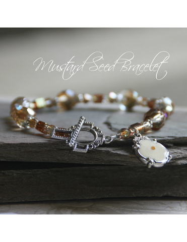 beautiful bracelet catholic jewelry inspirational gift mustard seed bracelet jewelry bracelet with cross gift for mom gift for sister