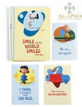 12pcs Snoopy Peanuts Birthday Greeting Cards Set of 4 beautiful peanut characted deisgns and inner scriptures and inspirational phrases a perfect gift for birthdays or any occasion for your family brother sister and friends
