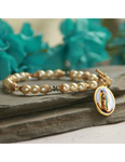 Our Lady of Guadalupe Pearl Bracelet a perfect Catholic Religious gift to your sister mother family and friends for their birthday Christmas or any occasion