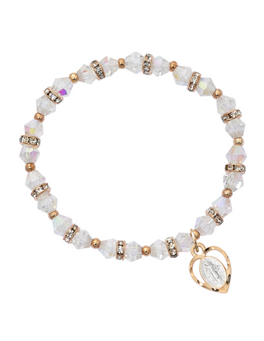 Crystal Rose Gold Miraculous Bracelet