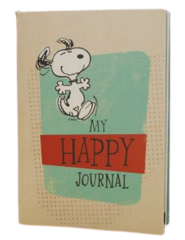 Snoopy Peanuts My Happy Journal Notebook with inspirational scriptures and finished with Peanut Characters on each page a perfect gift for christmas birthdays or any occasion for you brother sister and friends