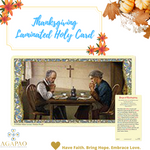 Laminated Holy Card Thanksgiving - 25 Pcs. Per Package