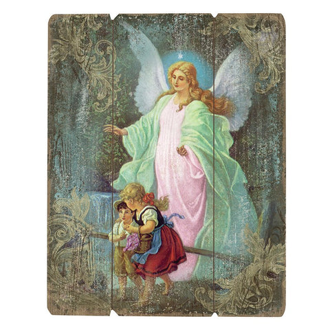 Guardian Angel on Wood Pallet Sign