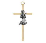 First Communion Girl Brass Cross
