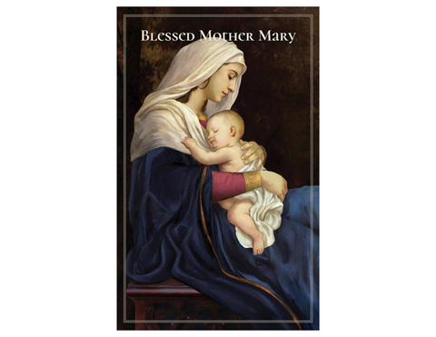 "5"" H Pocket Prayer Folder - Blessed Mother Mary"