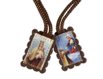 "1.5""H Small Brown Wool Scapular"
